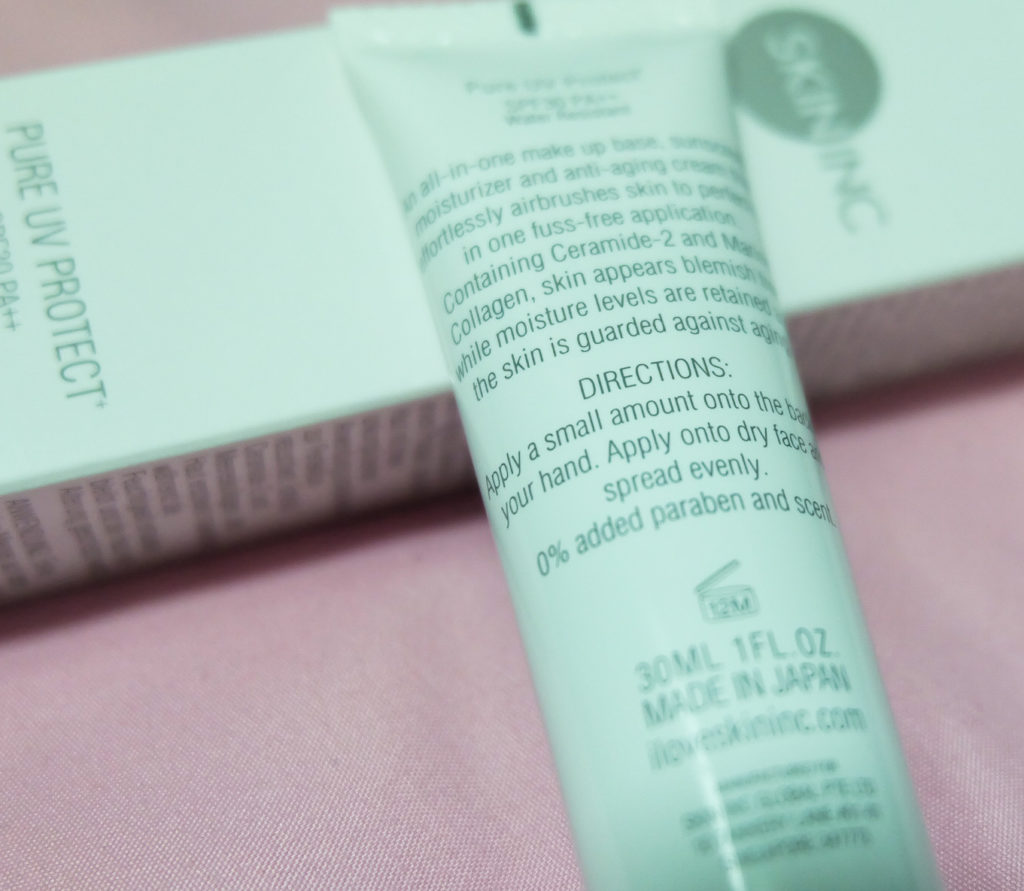Skin Inc Pure UV Protect review